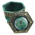 Dark Legends - All Seeing Eye Haxagonal Dragon Trinket Box, grønn 10 cm thumbnail