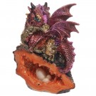Cute Baby Dragon with Crystal Cave, rød 12 cm thumbnail