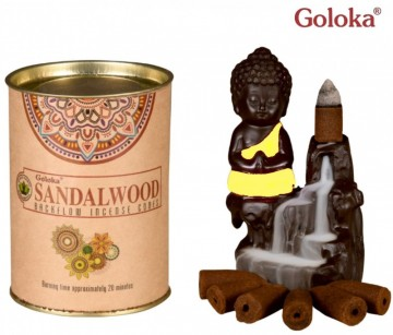 Goloka Back Flow røkelse Sandalwood
