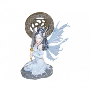 Grey Pixie With Sword And Shield 15 cm