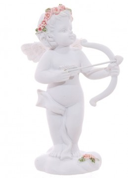 Cherub with Bow and Arrow and Roses Headband, høyre 10 cm