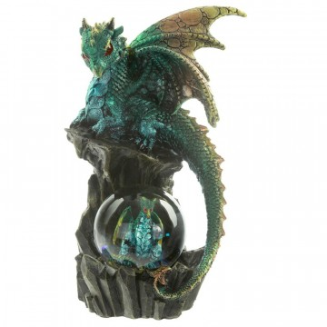 Enchanted Nightmare Dragon - Seer of the Past and Future, grønn 21 cm