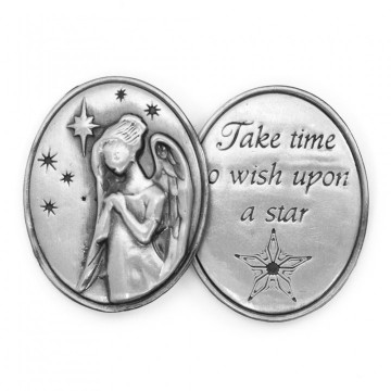 AngelStar Inspirational Token - Take Time to Wish Upon a Star