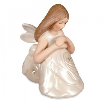 Contemplation Sitting Rose Angel 7,5 cm i porselen