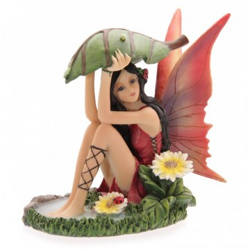 Fairy with Leaf Umbrella av Lisa Parker 14 cm