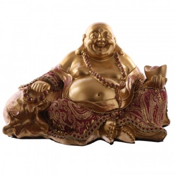 Chinese Buddha Sitting Hand on Stack 20 cm
