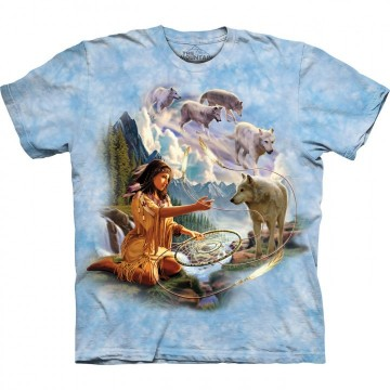 Dreams of Wolf Spirit T-Shirt str Small
