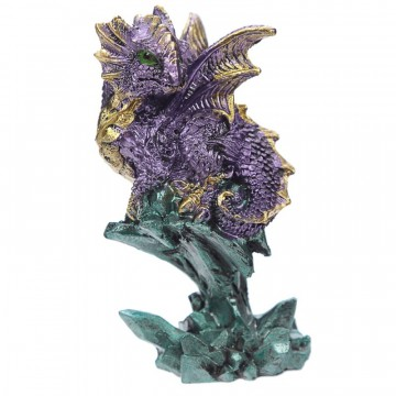 Dragon with Mini Crystal, lilla 9 cm