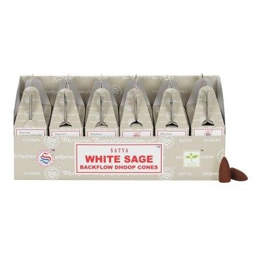 Satya Backflow Dhoop Cones White Sage