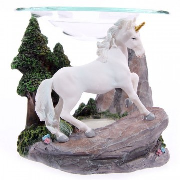 Unicorn Forrest Oil Burner med glassplate, 11 cm