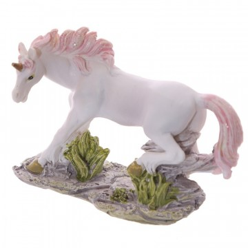 Small Unicorn on Rocks Decoration - C, 6 cm