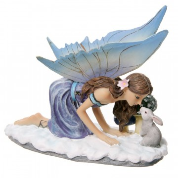 Snow Fairy Kissing a Rabbit av Lisa Parker 14 cm