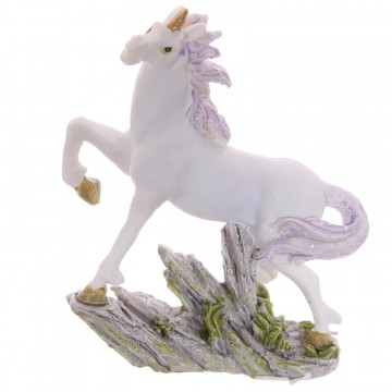 Small Unicorn on Rocks Decoration - B, 6 cm