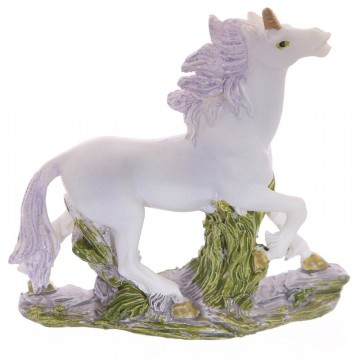 Small Unicorn on Rocks Decoration - D, 6 cm