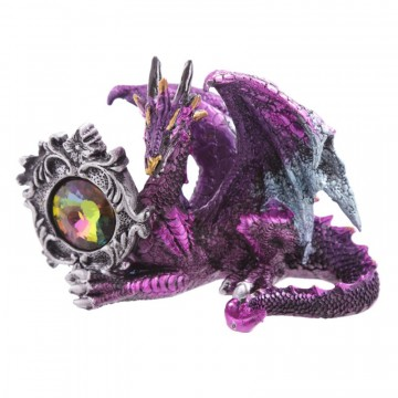 Dark Legends Dragons - Gemstone Frame Dragon liggende, lilla 10 cm