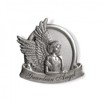 Guardian Angel Peaceful Metal Visor Clip