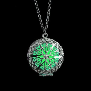 Selvlysende grønn magic fairy locket