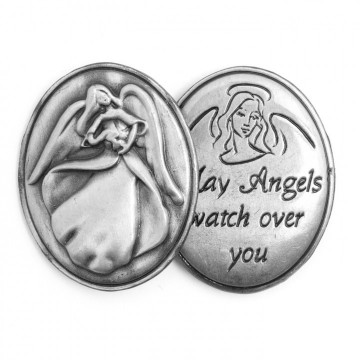 AngelStar Inspirational Token - May Angels Watch Over You
