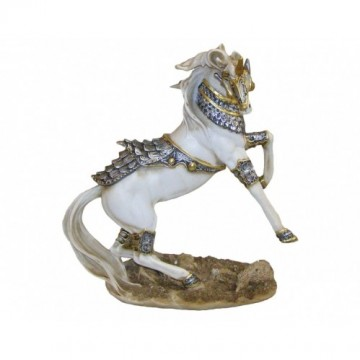 Unicorn Figurine Wearing Armour 27 cm