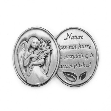 AngelStar Inspirational Token - Nature does not hurry, yet everything is accomplished