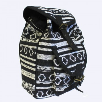 Small Nepali Backpacks - Sort og hvit